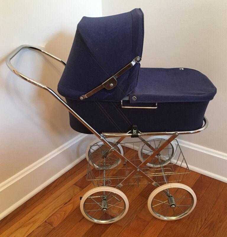 Vintage Sjoholms Varnamo Doll Carriage Pram Made In Sweden
