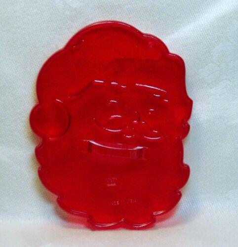Vintage HRM Design Red Plastic Cookie Cutter - Jolly Santa Face Christmas Claus