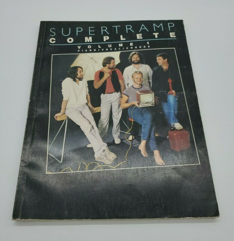 Supertramp Complete Vol. 1 Piano/ Vocal/ Chords Sheet Music (RARE FREE SHIPPING