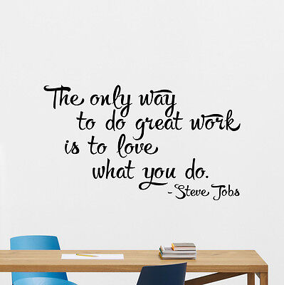 Steve Jobs Quote Wall Decal Apple Office Home Vinyl Sticker Work Art Decor 56Quo