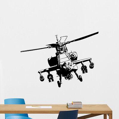 Apache Helicopter Palisade Decal Nursery Poster Vinyl Sticker Art Garage Decor 74hor