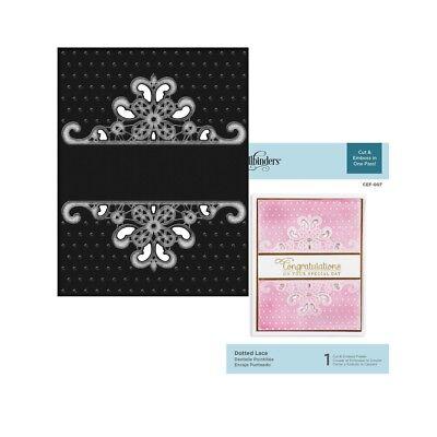 Cut & Emboss Spellbinders Dotted Lace folder CEF-007 scroll dot border frame (Dot Border)