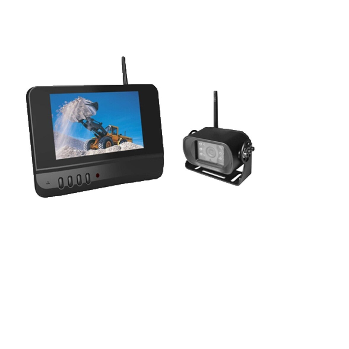 Skid Steer KTH 2.4 Digital Wireless rear view Camera System with 7