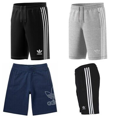 Adidas Originals Mens 3 Stripes Outline Shorts Cotton Casual Summer Fleece