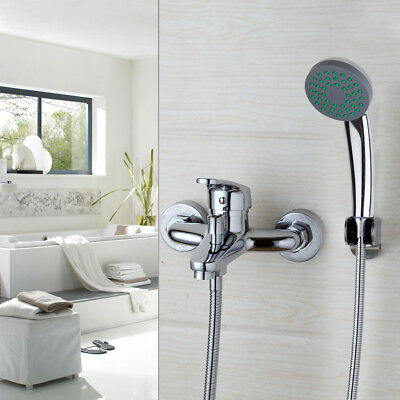 US Bathroom Hand Shower Bathtub Hand Spray Faucet Set Wall Mounted Mixer Tap