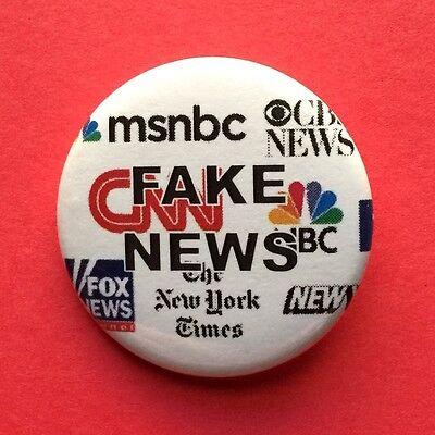 Fake News Media Bias Liberal Cnn Msnbc Pinback Button   1 5    Free Shipping