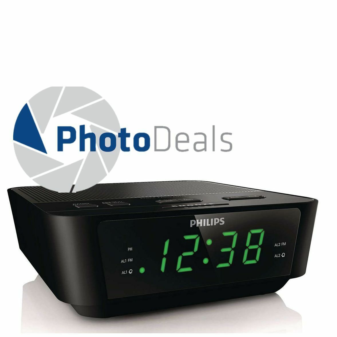 philips aj3116m digital tuning fm dual alarm clock radio black ebay. Black Bedroom Furniture Sets. Home Design Ideas