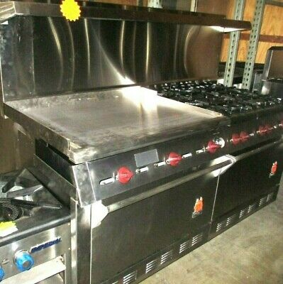 Used Wolf 72 L Range With 36 Griddle 6 Burners And 2 Standard Ovens Gas