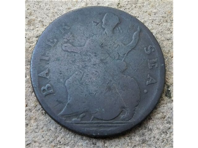 NO RESERVE George III BATTERSEA Evasion Piece Halfpenny Coin Forgery