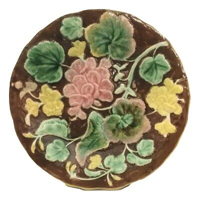 Plate And Vine (Antique Victorian Etruscan Majolica Floral and Vine)