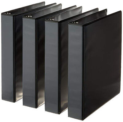 3-ring Binder 1.5 Inch Rings - 4-pack Black Free Fast Shipping