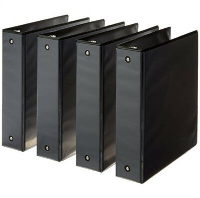 3-ring Binder 2 Inch Rings - 4-pack Black Free Fast Shipping