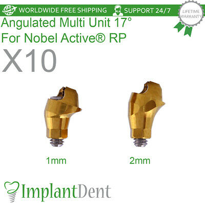 10 Angulated Multi Unit Abutment 17 For Nobel Active Hex Rp Dental Implant