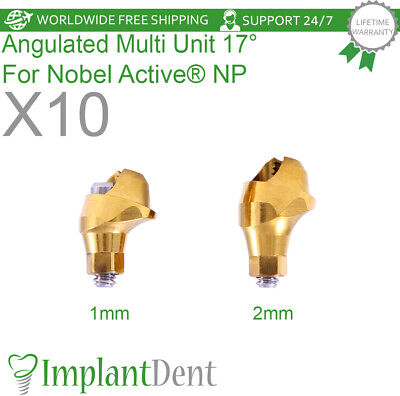 10 Angulated Multi Unit Abutment 17 For Nobel Active Hex Np Dental Implant
