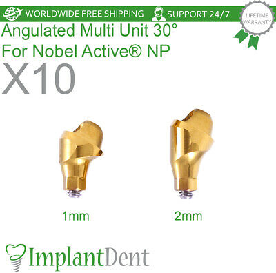 10 Angulated Multi Unit Abutment 30 For Nobel Active Hex Np Dental Implant
