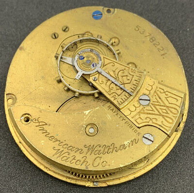 Waltham 1883 Pocket Watch Movement Grade 1 18s 7j Openface Parts Repair F4523