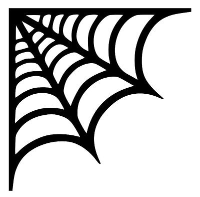 Spider Web Decor (Spider Web Halloween 4x4 Haunted Removable Vinyl Wall Art Decal Sticker)