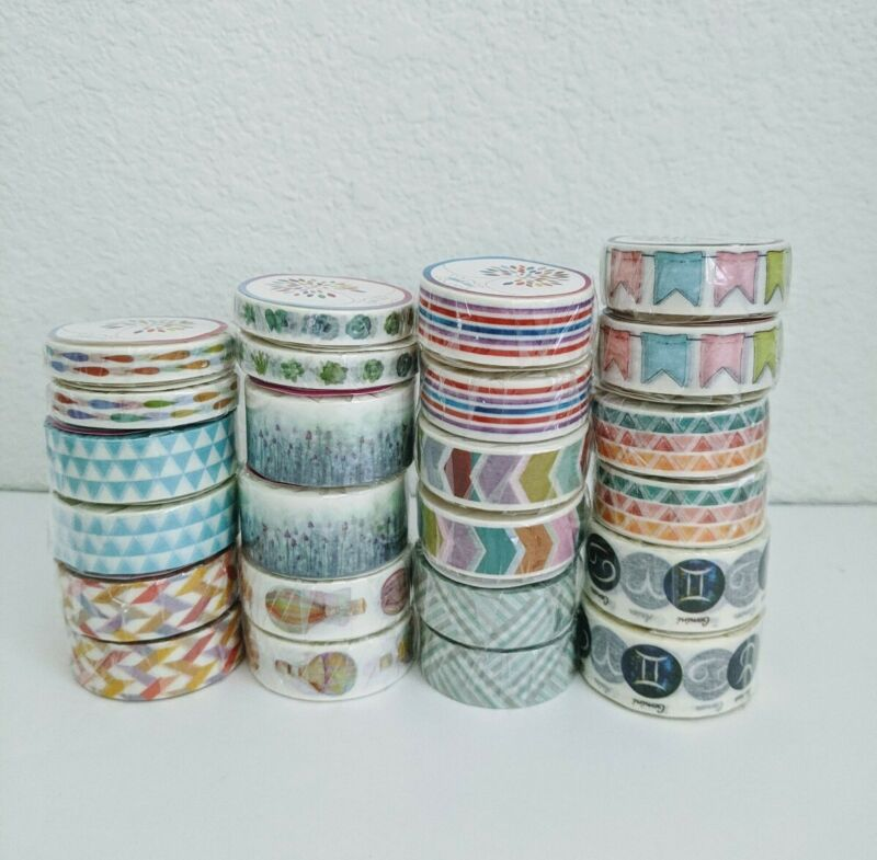 Lot Of 24 Rolls Of Washi Tape - Sealed