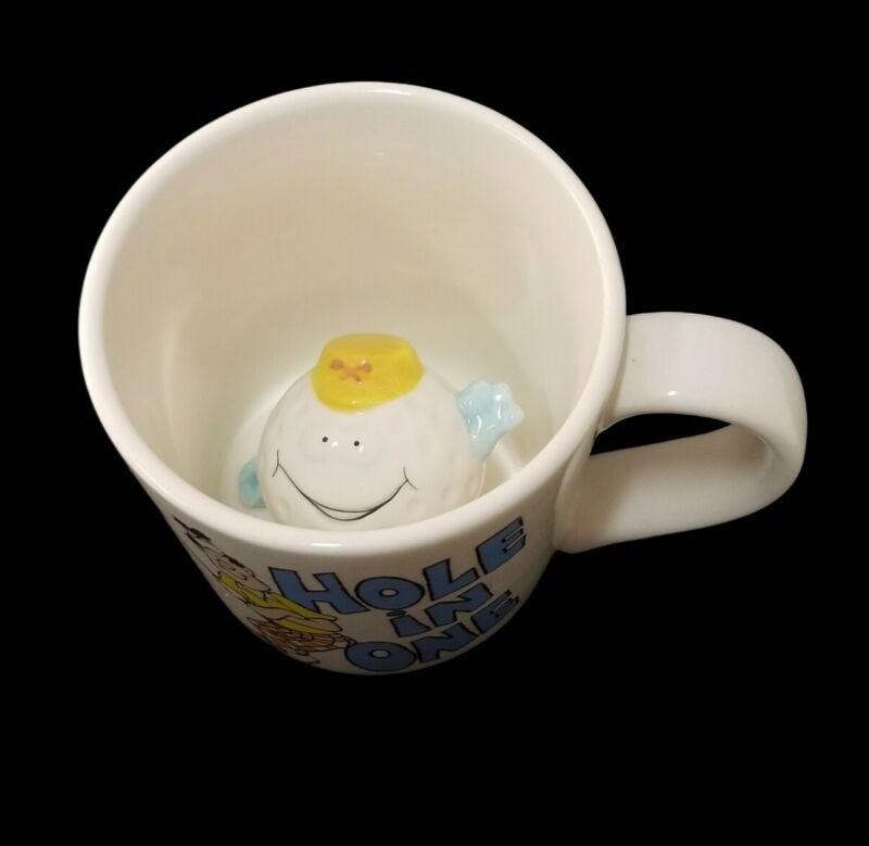 Russ Berrie and Company Hole in One Golf Novelty Coffee Peek-In Mug Tea Cup