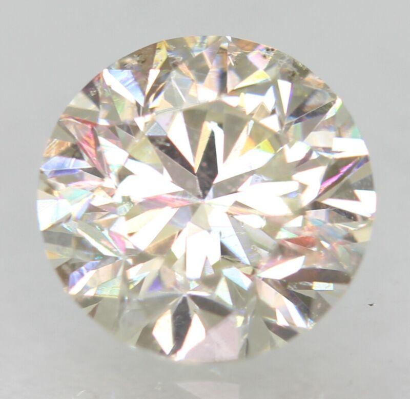 Certified 0.93 Carat H VVS2 Round Brilliant Enhanced Natural Diamond 6.06mm 3VG
