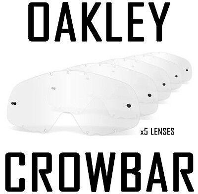 Oakley Brecheisen Ersatz Motocross Enduro Brille Gläser Klar X 5