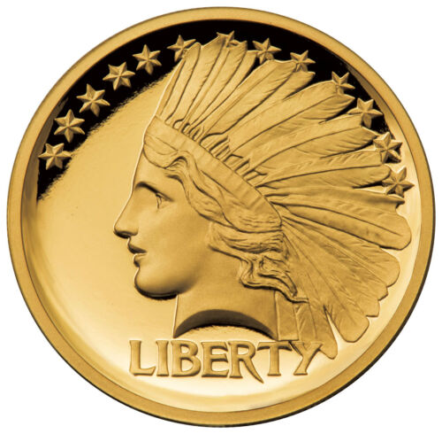 2017 Gaudens $20 Double Eagle 1/2 oz Gold Indian Head Pattern HR Proof SKU52220