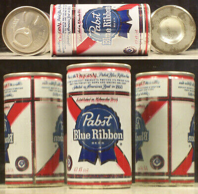 Pabst Blue Ribbon Beer 12 oz Can ( Double Printing Mistake Can ) Wisconsin A686
