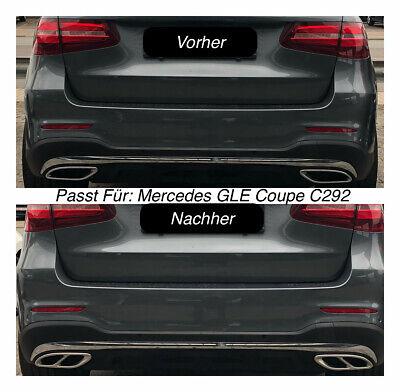 Top Chrom Edelstahl Auspuffblende Für Mercedes GLE Coupe C292 (205