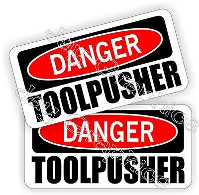 Hard Hat Stickers Danger Toolpusher Motorman Worm Oilfield Helmet Decals
