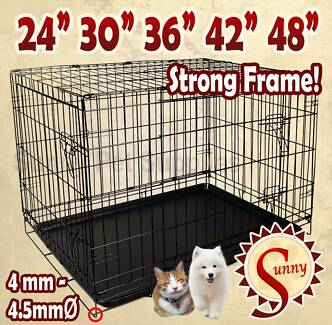 Metal Collapsible Cage Crate DOG PET CAT Training Rabbit Kennel