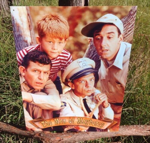 Andy Griffith TV Show Men of Mayberry Metal Sign Tin Vintage Garage Bar Wall