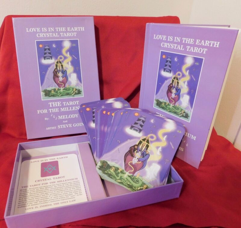 Love is in the Earth Crystal Tarot Deck and Book Boxed Set 1st Edition By Melody
