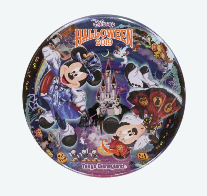 New Tokyo Disney Land Button 2019 Halloween Mickey Minnie TDL