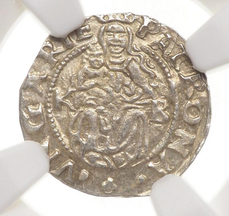 HUNGARY. Ferdinand I Silver Denar, 1554-KB, NGC MS64