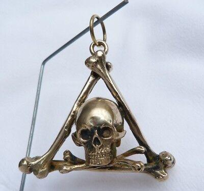 Anhänger Skull Totenkopf  Knochen  Momento Mori