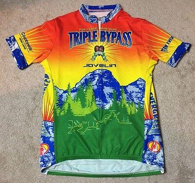 Primal Wear 2004 Triple Bypass Evergreen Bike Cycling Jersey Mens XL EUC c9b986229