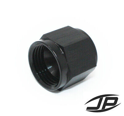 Black -10 AN Female AN Flare Fitting Cap 10 AN Block Off Aluminum HIGH QUALITY!
