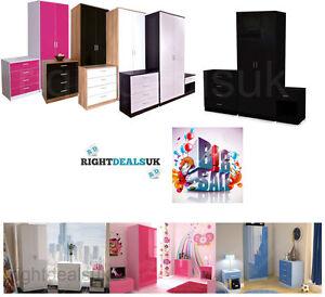 3-Piece-Wood-Bedroom-Furniture-Set-2-Door-Wardrobe-Drawer-Chest-Bedside-Cabinet