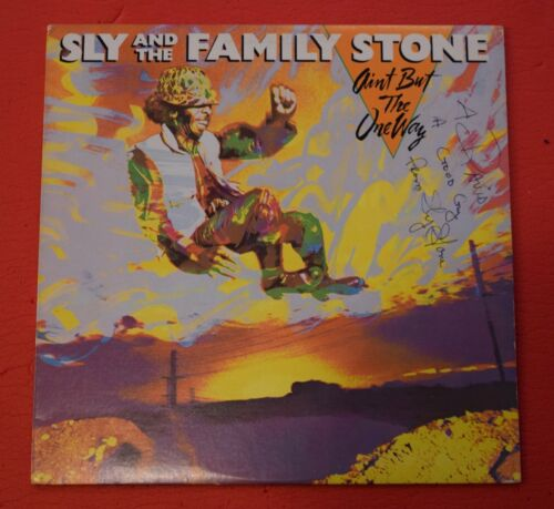 Sly Stone Signed Autograph Ain't But The One Way The Family Stone Record Album