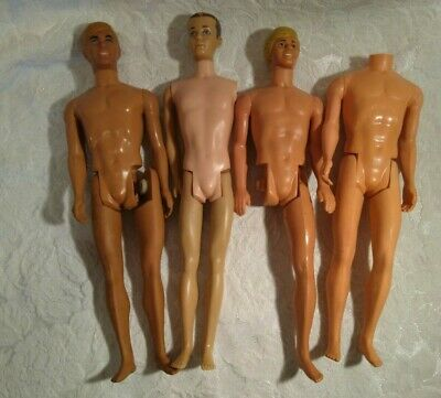 vintage Barbie 4 KEN DOLLS brunette, blonde, Malibu 1960s PARTS