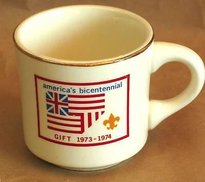 BSA BOY SCOUT Mug America's Bicentennial Gift 1973-74 Vintage FREE SH