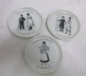 3-Sottopiatto-Hamburger-Costume-Tradizionale-Furstenberg-Porcellana-Vintage
