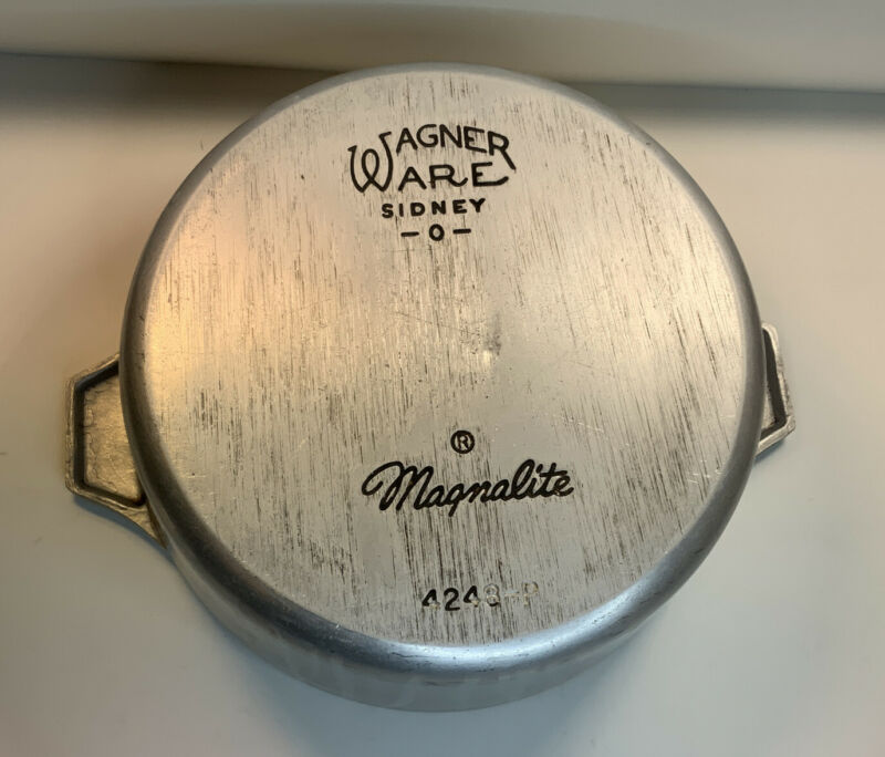 Wagner Ware Sidney O Magnalite 4248-P Aluminum Dutch Oven Roaster Broken Handle