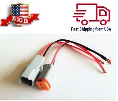14 Awg Assembled Deutsch 2 Pin Waterproof Connector 6 Wire