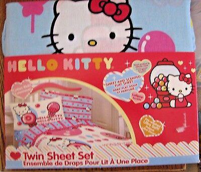 Hello Kitty Sweet & Scented Twin Sheet Set 3 piece