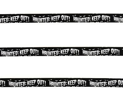 Black Haunted: Keep Out! Caution Tape 50ft. Halloween Decoration Decor - Caution Keep Out Tape