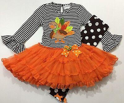 Turkey Outfit (Emily Rose NWT 2T 4 6 Boutique Thanksgiving Turkey Dress Legging)