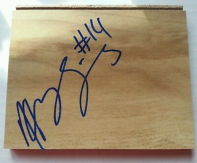 Henry Sims Georgetown Hoyas / Shanxi Brave Dragons Signed Mini Floorboard