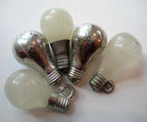 VINTAGE Plastic LIGHT BULB Gumball Charm Prize Lot GLOW IN THE DARK