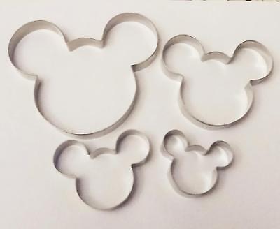 4 Größe Mickey Maus Mouse Backen Keks Ausstecher Ausstechform Set  ()